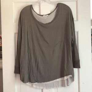 Urban Outfitters Gray Long Sleeve Top